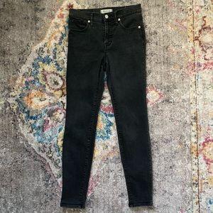 Madewell High Rise Skinny Jeans- Black